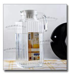 弓箭四方条子冷水壶1.7L大容量玻璃壶果汁壶玻璃