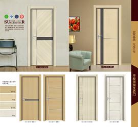 拼接生态木门 强化门 室内套装门 室内门 卧室门 房间门 厂家直销图片