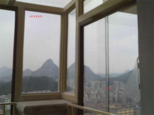 直销钢化玻璃铝合金无框阳台窗阳光房定制有框窗贵阳安装e-009