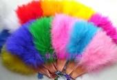 舞会表演道具扇子全绒羽毛扇加厚舞蹈扇升级版肚皮舞羽绒毛扇折扇