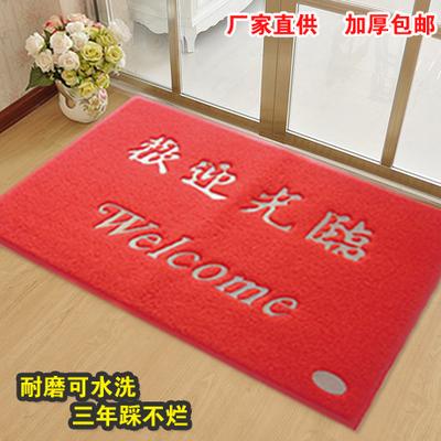 门口入户地垫地毯进门脚垫除尘防滑塑料橡胶PVC丝圈欢迎光临门垫年中大促