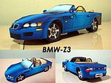 Stereo origami hand DIY model paper-cut simulation sports car German BMW Z3 model 3D paper mold production