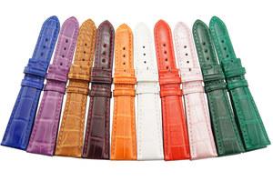 海力时 定制表带订做表带手工订做 真皮牛皮鳄鱼皮表带凹凸口表带