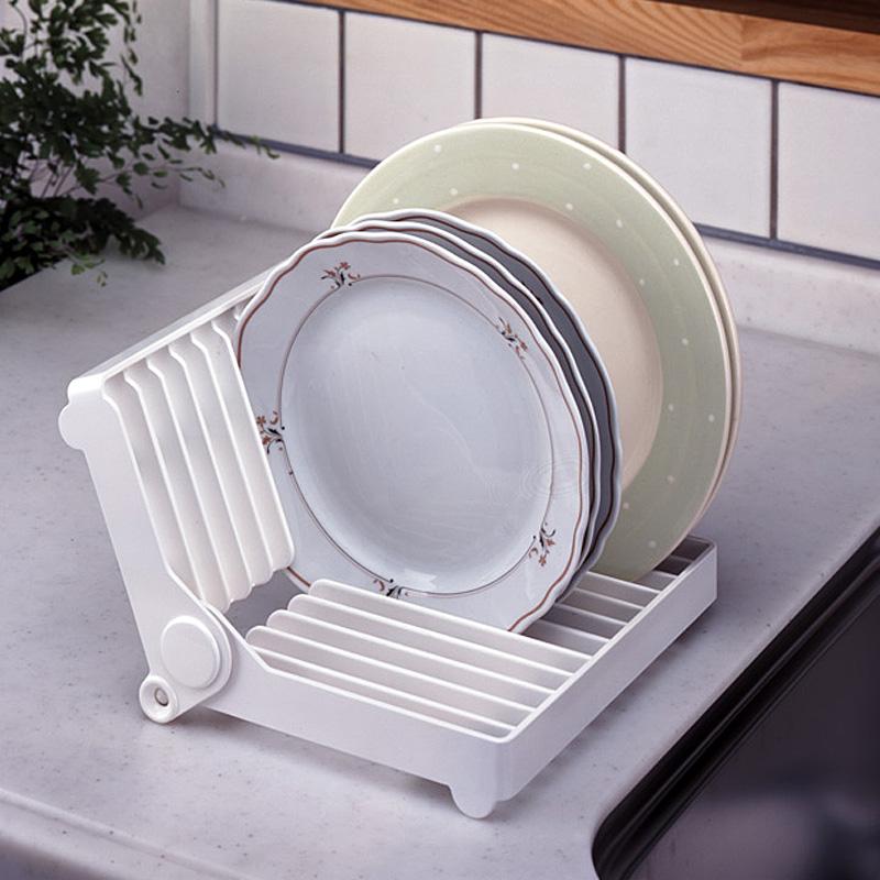 日本KM正品 厨房折叠式盘子架碟子收纳架碗碟盘沥水架盘碟置物架