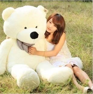 泰迪熊抱抱熊猫大号白色公仔毛绒玩具娃娃闺蜜生日礼物送女生朋友