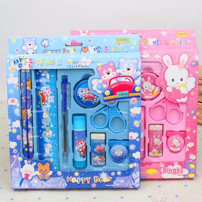 创意六一儿童节礼物批发文具套装礼盒小学生日奖品幼儿园学习用品