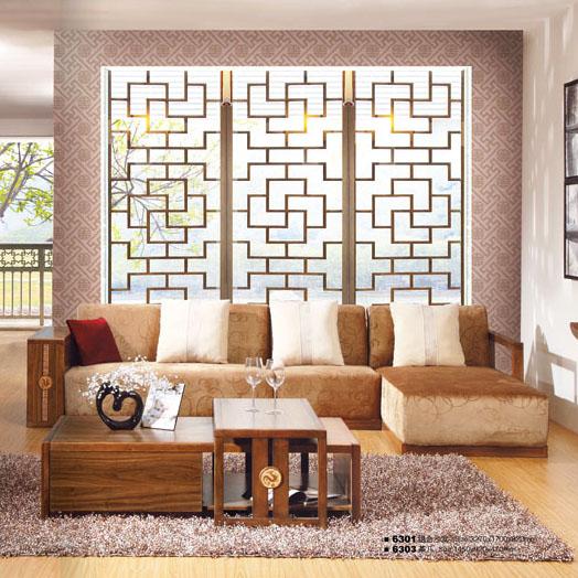 橡胶木布沙发
