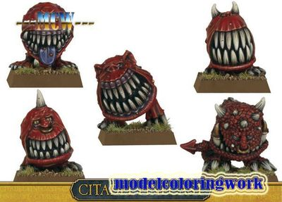 Warhammer 中古戰錘 綠皮 Gnarly Cave Squigs OR