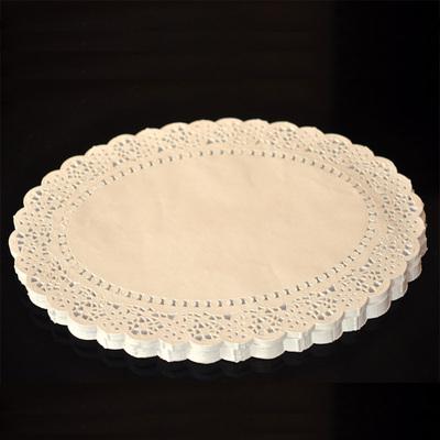千团精工 蛋糕纸托 椭圆形花边纸 乳酪蛋糕 芝士蛋糕花纸垫14英寸