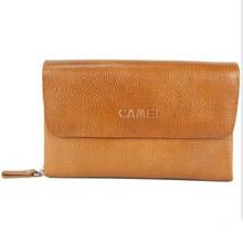 03棕黄 手包MT120003 头层牛皮Camel骆驼男包男士 品质人生系列正品