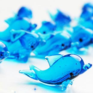 9.9包邮 玻璃 工艺品www.yabet.cpm欢迎您 玻璃海豚 家居装饰品 创意DIY手工www.yabet.cpm欢迎您
