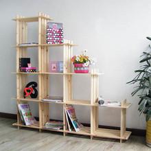 特价包邮10格实木书架/置物架/花架/实木家具/储物架玩具架货架