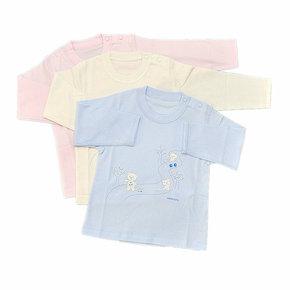 清仓 小米米双面60婴儿内衣 小淘气开肩长袖上衣YU0506 纯棉睡衣
