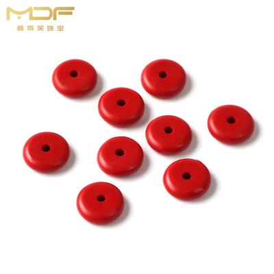 MDF/曼蒂芙合成朱砂隔片隔珠算盘珠垫片 DIY手串手链佛珠饰品配件