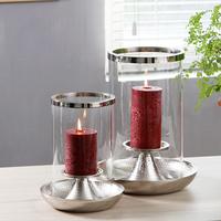 柔软时光法式金属电镀镍色手工锤纹烛台创意摆件桌面装饰烛光晚餐