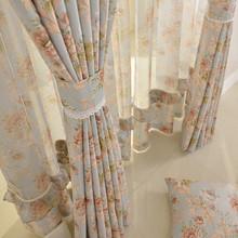 三好家/客厅卧室半遮光美式乡村田园拼接窗帘窗纱窗帘布定制