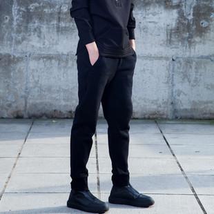 原创秋冬男士哈伦裤卫裤加绒加厚潮男修身小脚运动裤收口休闲裤子