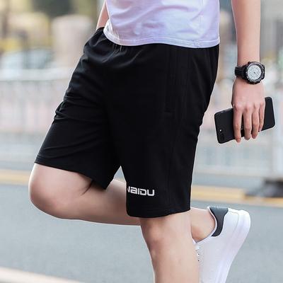夏季家居五分裤跑步运动短裤男青年夏天薄款休闲宽松大码大裤衩子