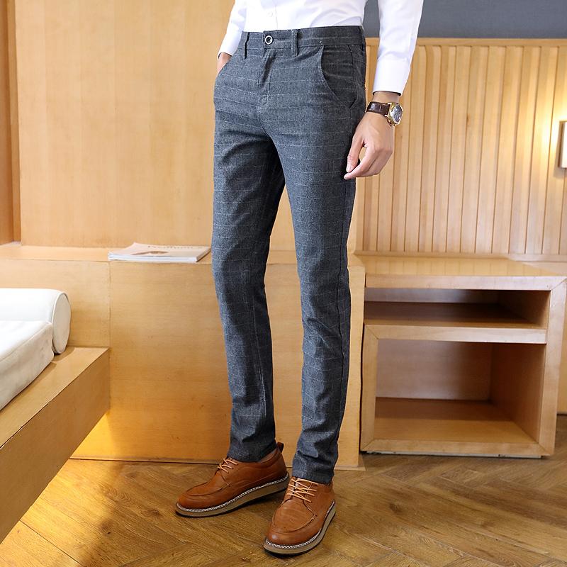 秋款格子长裤