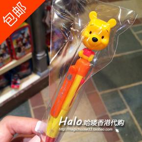 香港迪士尼乐园 小熊维尼摇头4色圆珠笔  可爱卡通走珠笔