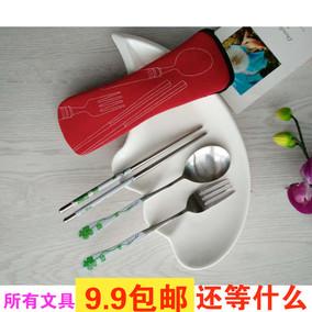 创意印花勺叉筷餐具新奇特别实用送男女学生朋友奖品儿童小礼物批