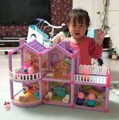 小猪过家家全套系列人物25个 佩奇家庭装双层别墅 场景房子