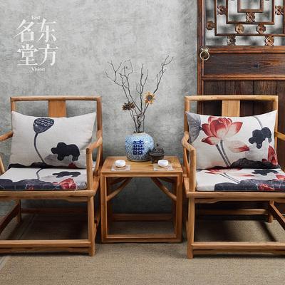 原创现代中式设计棉麻茶楼椅垫餐椅垫太师椅垫餐桌椅子仿古椅坐垫使用感受