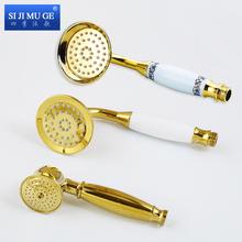 欧式全铜金色电话式淋浴花洒仿古手喷淋浴手持花洒电话机喷头喷头