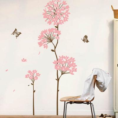 墻貼浪漫花朵花卉背景墻客廳臥室植物自粘墻壁墻紙田園貼紙裝飾品哪個好