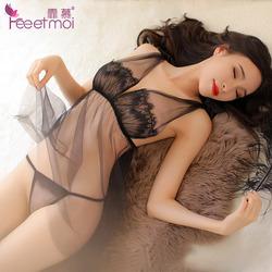性感情趣内衣透明露乳蕾丝睡衣sm骚房事助兴激情套装成人性用品JB