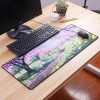 Laptop small mouse pad thick large comfortable desk pad anime cartoon cute personality fresh fashion girls long super large lock keyboard pad matte pad cushion