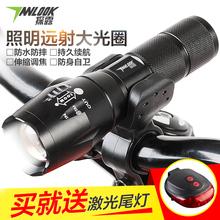 探露夜騎t6自行車燈前燈可充電強光手電筒遠射山地車騎行裝備配件