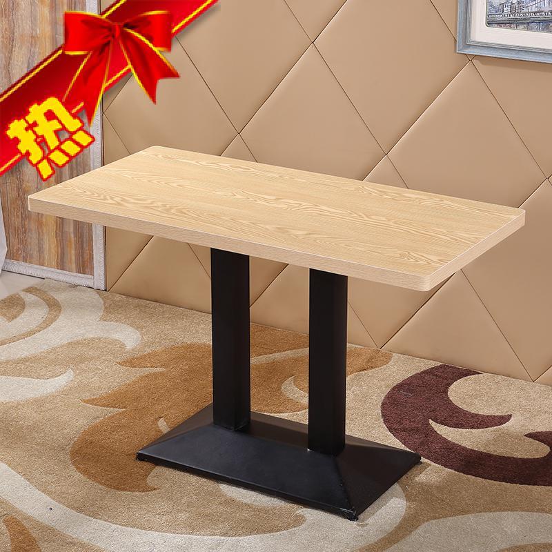 快餐桌椅咖啡厅小吃面馆奶茶西餐厅餐桌甜品食堂餐桌组合