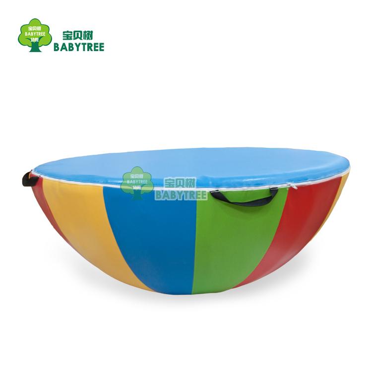 感统训练器材 软体组合儿童转盘 软体大陀螺平衡陀螺七彩圆形陀螺