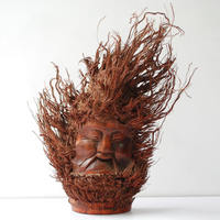 [Old bamboo root carving] retro decoration Ancient handsome man ornaments Folk crafts bamboo carving collection