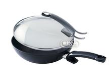 德國進口 fissler菲仕樂中式不粘炒鍋帶蓋28CM 15620128100