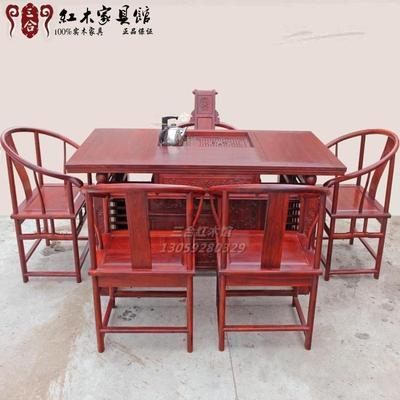 红檀迎宾茶台茶桌餐桌餐台 黄花梨刺猬紫檀鸡翅木 红木实木家具