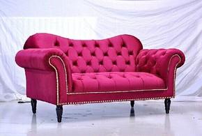 现货美式欧式客厅卧室书房布艺沙发单人双人三人韩式美式组合沙发