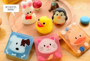 香皂可爱儿童手工水晶皂卡通立体洗手肥皂鸭子兔子小黄鸭儿童香皂