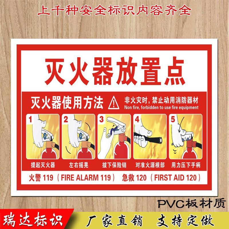 安全标识安全警示牌标示牌牌消火栓