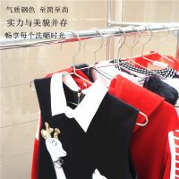 Authentic 304 solid stainless steel thick thickening long wet and dry creative adult hanger clothes hanging