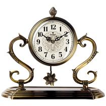 客厅钟表座钟欧式台钟创意时钟卧室桌钟坐立式石英钟美式金属坐钟