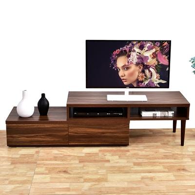 北欧转角电视柜现代简约小户型迷你可伸缩组合卧室深胡桃实木色品牌资讯