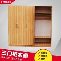 门卧室板式移门大衣橱实木质整体衣柜定制2推拉门衣柜简约现代