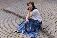 亚麻裙棉麻长裙半身裙半裙文艺范优雅长裙 春季显瘦原创女装 包邮