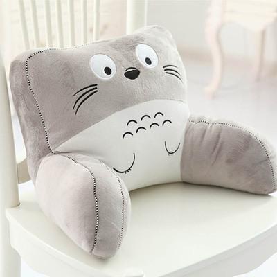 创意可爱办公室龙猫扶手椅子靠垫护腰卡通汽车抱枕头机器猫床头背品牌巨惠