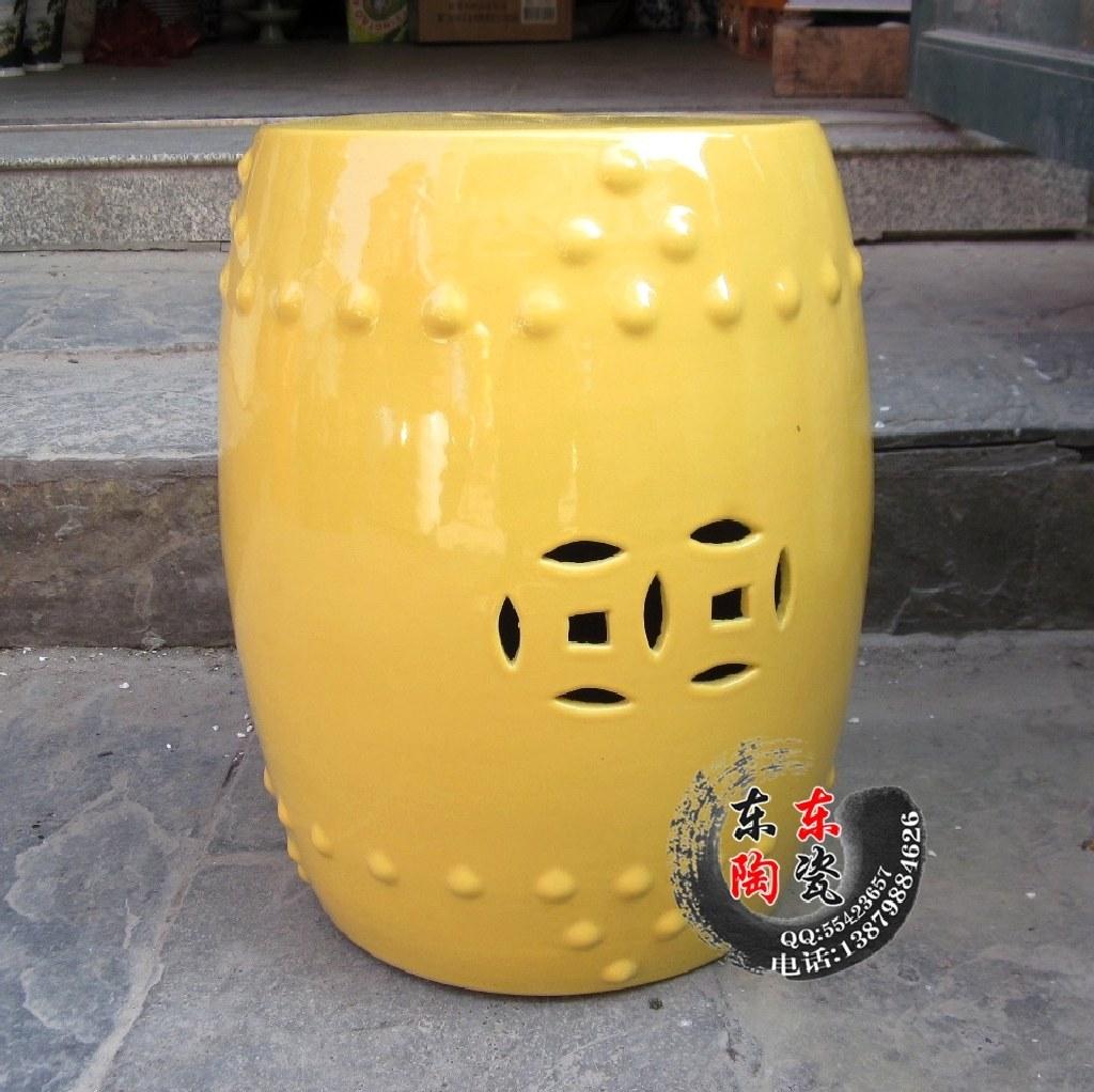 景德镇陶瓷凳子 高档凉凳镂空坐凳坐椅 防水防腐不褪色 多色可选