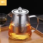 加厚玻璃泡茶壶耐高温大号过滤家用透明烧水壶茶具套装耐热煮茶器