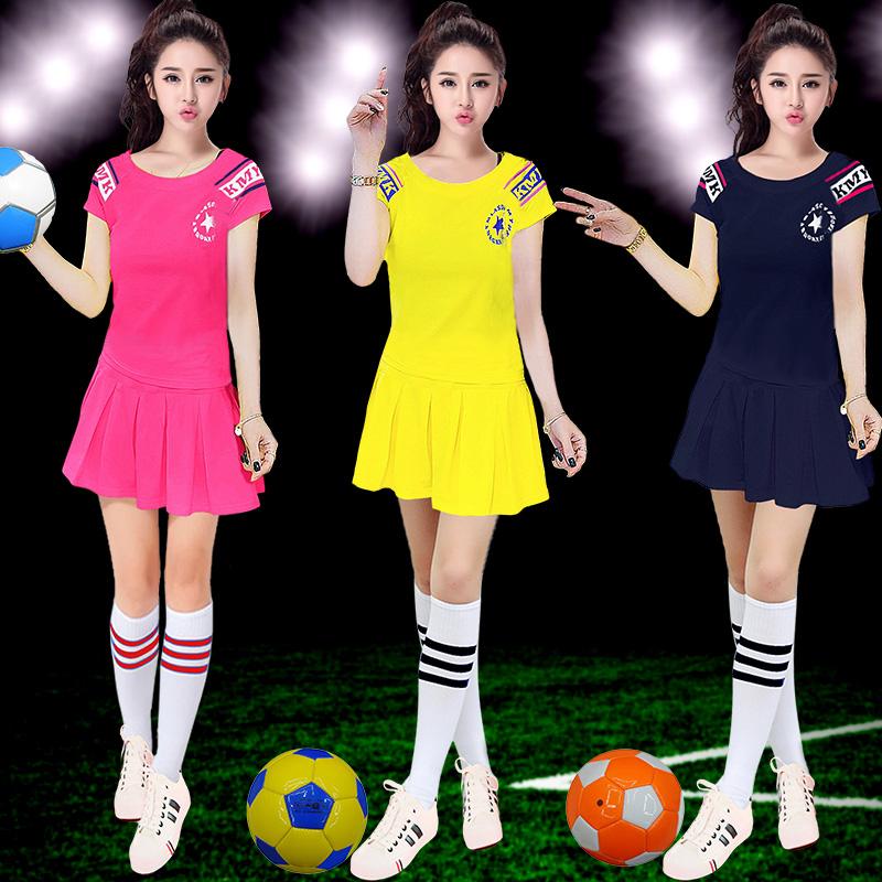 2018世界足球宝贝服装女啦啦操演出啦啦队表演套装新款学生韩版杯