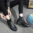 雨牧时尚雨鞋女短筒雨靴男*防水套鞋韩国低帮胶鞋防滑加绒水鞋